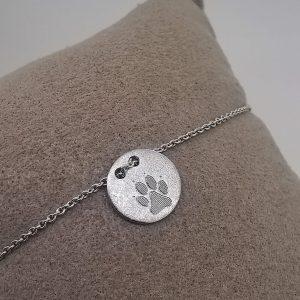 Wishcircle Armband mit Hundepfoten Gravur